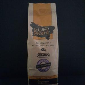 Paquet de café picard fin et aromatique, 500g, en grains   Ô douceurs de nos terroirs - Epicerie fine à Péronne