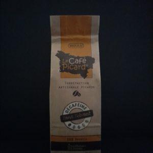 Paquet de café picard décaféiné de 250g, moulu   Ô douceurs de nos terroirs - Epicerie fine à Péronne