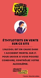 image illustrant la vente d'éthylotest sur le site