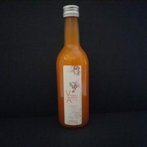 Bouteille de 25cl de vinaigre à l'argousier | Ô douceurs de nos terroirs - Epicerie fine à Péronne