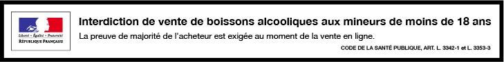 Bandeau pour boissons alcoolisées