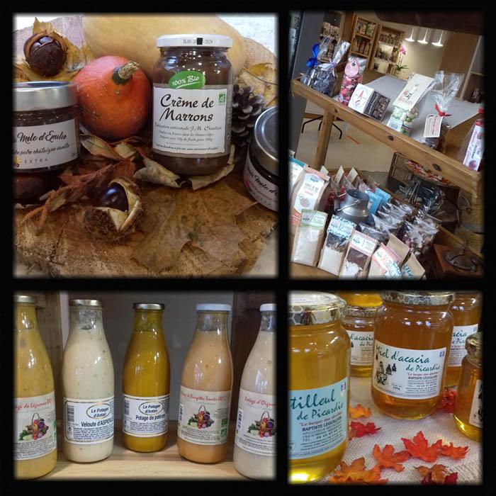 Consommer sainement: une photo de  produits vendus par votre épicerie fine